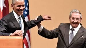 Obama and Raoul Castro