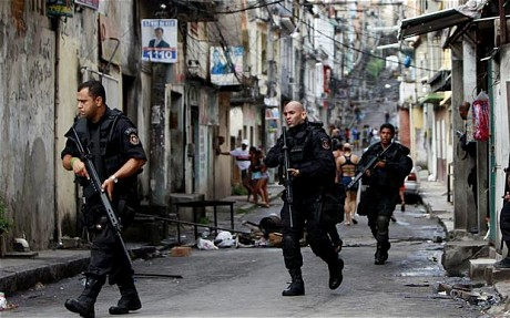 Rio police and favelas