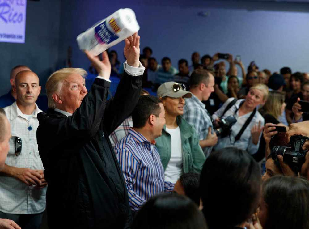 Trump throw paper towels